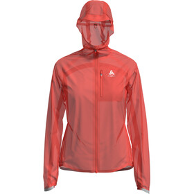Odlo Zeroweight Dual Dry Waterproof Jas Dames, hot coral